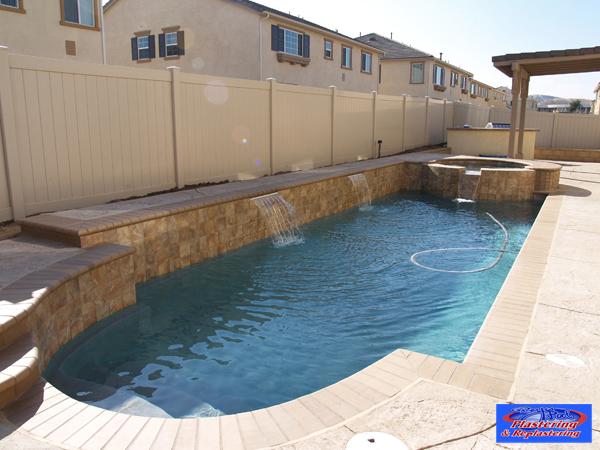 Pebble reyes pool plastering for Pool plaster