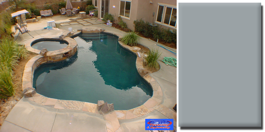French gray pool plaster submited images