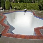 New Coping,Tile and white Plaster Reyes Pool Plastering INC. Click Image to enlarge.